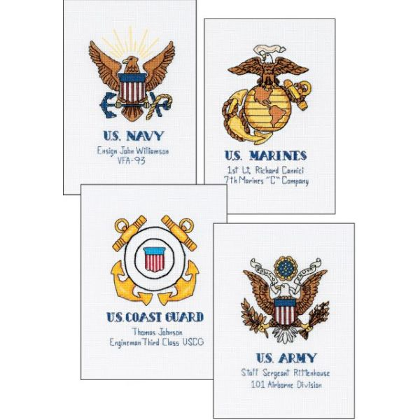 Dimensions Military Pride Counted Cross Stitch Kit