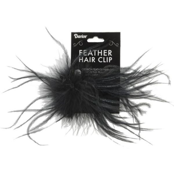 Ostrich Feather Hair Clip