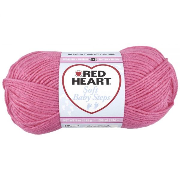 Red Heart Soft Baby Steps Yarn - Strawberry