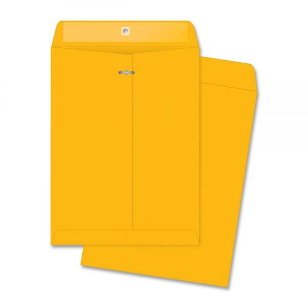 "Business Source Rugged Gummed 10"" x 13"" Clasp Envelopes"
