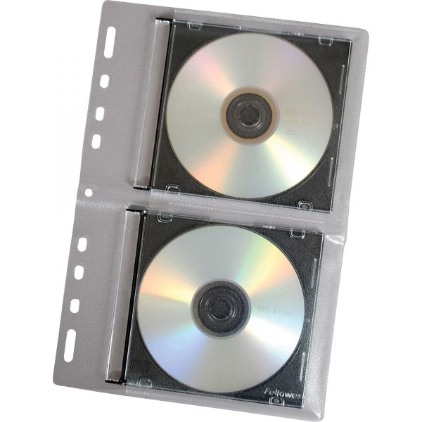 Fellowes CD/DVD Protector Sheets for Three-Ring Binder, Clear, 10/Pack