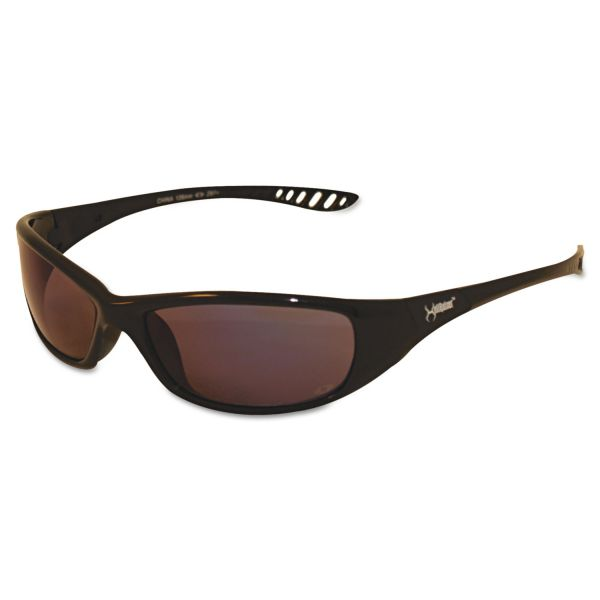 Jackson Safety* V40 HellRaiser Safety Glasses, Black Frame, Indoor/Outdoor Lens