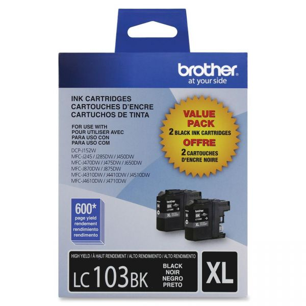 Brother LC103BK Black High Yield Ink Cartridges
