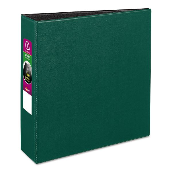 "Avery Durable 3-Ring Binder, 3"" Capacity, Slant Ring, Green"