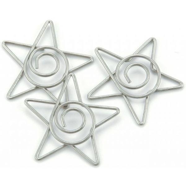 """Metal Spiral Star Paper Clips 1"""" 15/Pkg"""