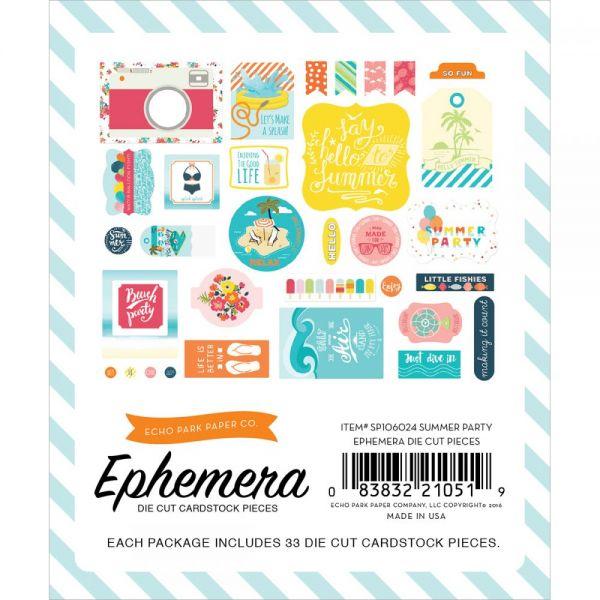 Summer Party Ephemera Cardstock Die-Cuts