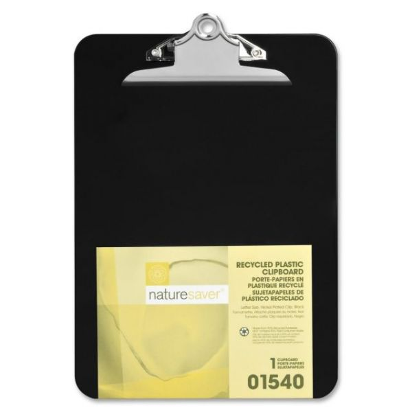 Nature Saver Recycled Black Plastic Clipboard