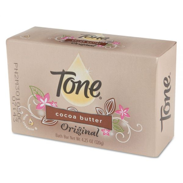 Tone Skin Care Bar Soap, Almond Color, 4 1/4 oz Individually Wrapped Bar, 48/Carton