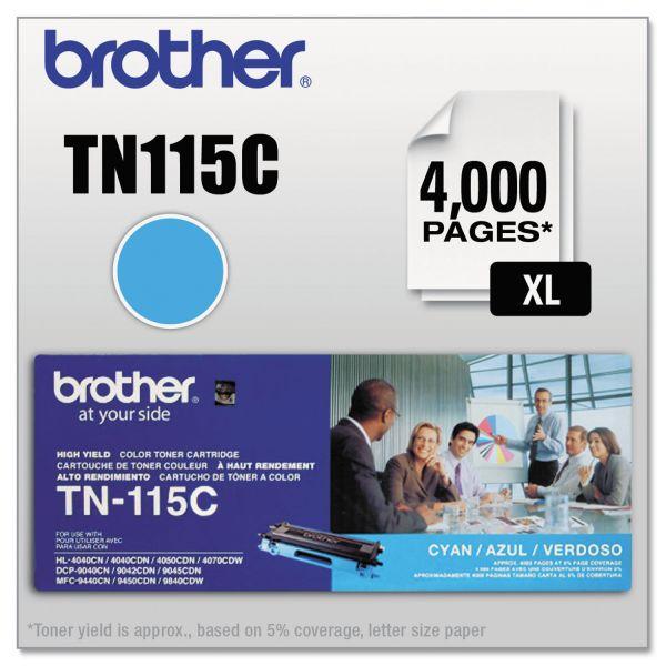 Brother TN115C High-Yield Toner, Cyan