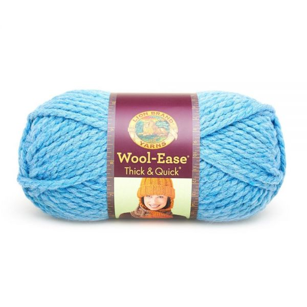 Lion Brand Wool-Ease Thick & Quick Yarn - Sky Blue