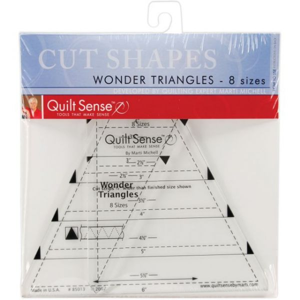 Quilt Sense Wonder Triangles Rulers
