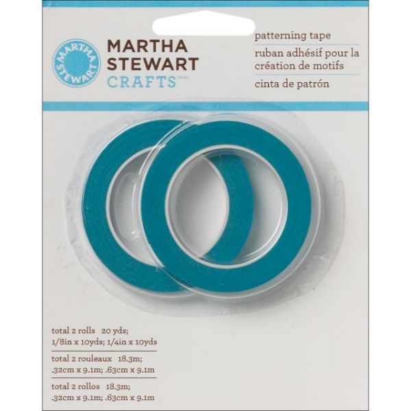 Martha Stewart Patterning Tape 2/Pkg