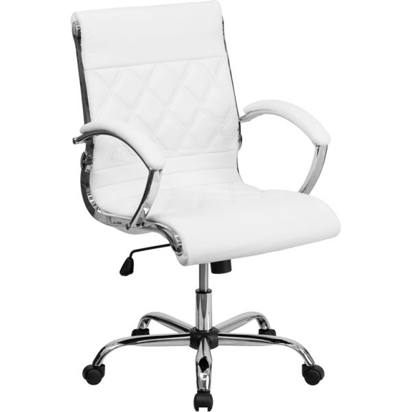 Flash Furniture Mid-Back Leather Executive Swivel Office Chair