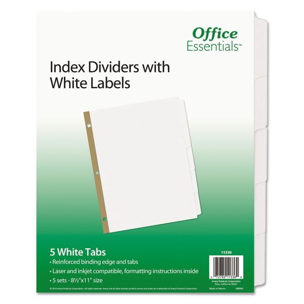 Office Essentials Index Dividers