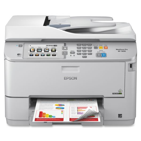 Epson WorkForce Pro WF-5690 Inkjet Multifunction Printer - Color - Plain Paper Print - Desktop