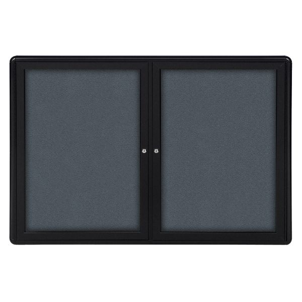 Ghent 2-Door Ovation Radius Enclosed Fabric Bulletin Board