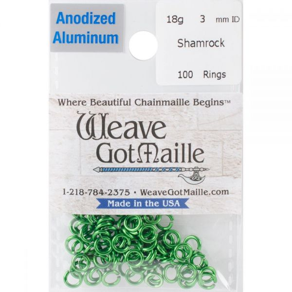 Anodized Aluminum Jumprings 3mm 100/Pkg