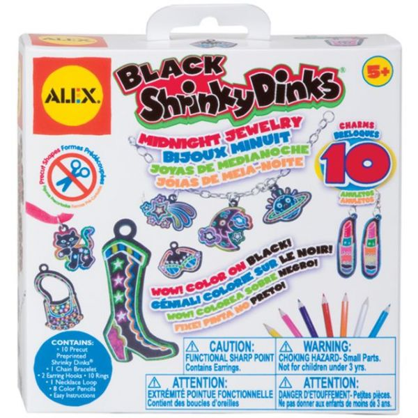 Shrinky Dinks Black Midnight Jewelry Kit