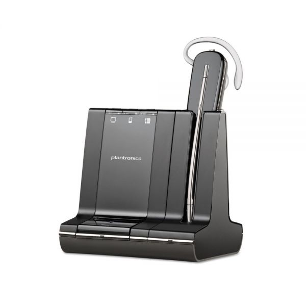 Plantronics Savi 740 Monaural Convertible Headset, Microsoft Optimized
