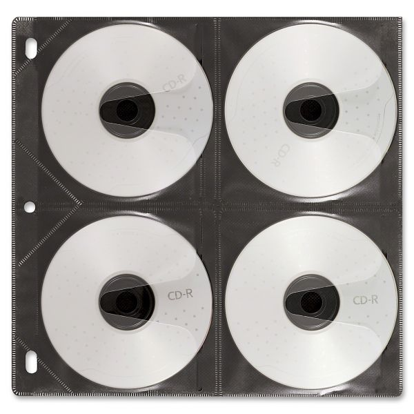 Vaultz Two-Sided CD Refill Pages for Three-Ring Binder, 25/Pack