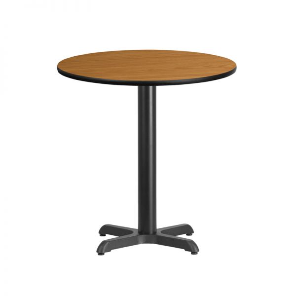Flash Furniture 24'' Round Natural Laminate Table Top with 22'' x 22'' Table Height Base