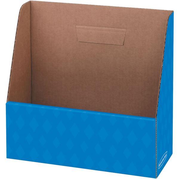 Bankers Box Folder Holder Storage Box, 11 3/4 x 4 1/2 x 11, Blue