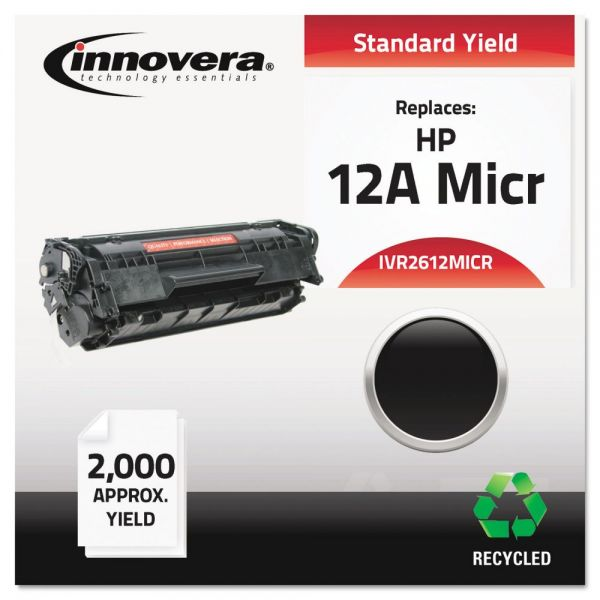 Innovera Remanufactured HP 12A (Q2612A) Micr Toner Cartridge