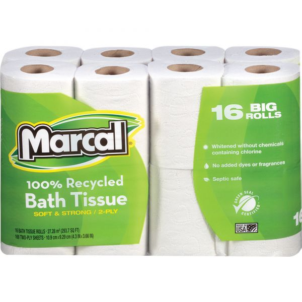 Marcal Small Steps 100% Premium Recycled 2 Ply Toilet Paper