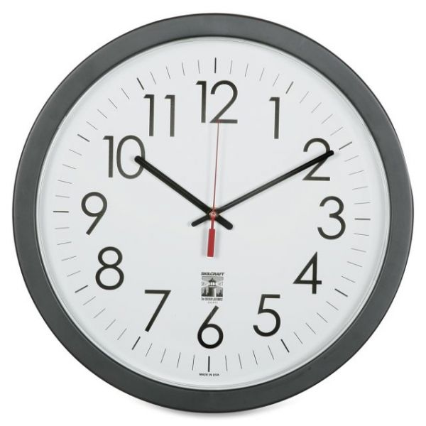 SKILCRAFT Round Self Set Wall Clock
