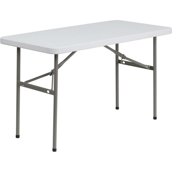 Flash Furniture Granite White Plastic Folding Table