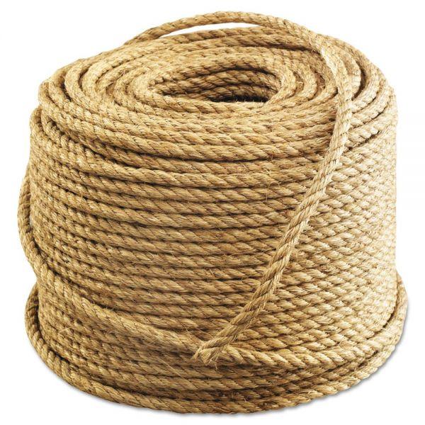 "Anchor Brand Manila Rope, 3-Strand, 1/2"" x 600ft, 45lb"