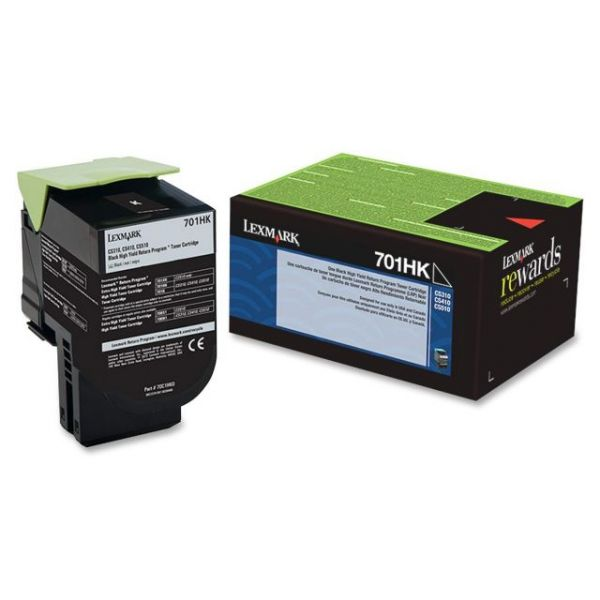 Lexmark 701HK Black High Yield Return Program Toner Cartridge