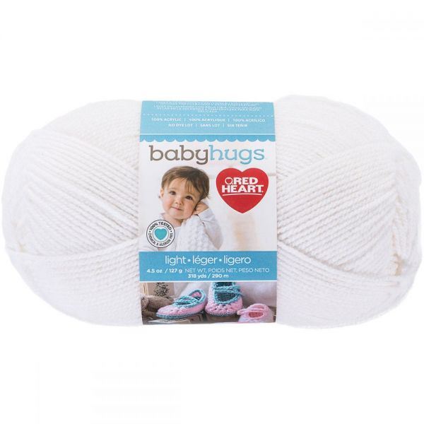 Red Heart Baby Hugs Yarn - Frosting
