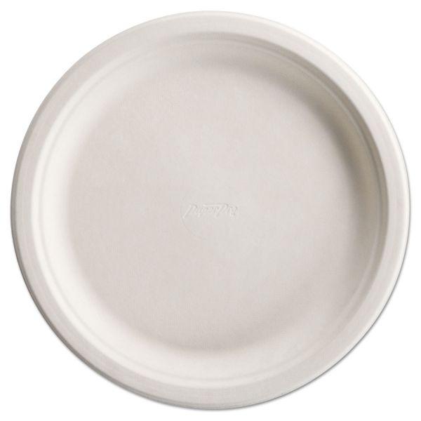 "Chinet PaperPro Naturals Fiber Dinnerware, Plate, 10 1/2"" Round Natural 125/PK 4 PK/CT"