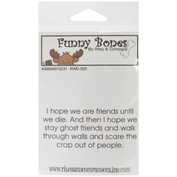 "Riley & Company Funny Bones Cling Mounted Stamp 3""X1.25"""
