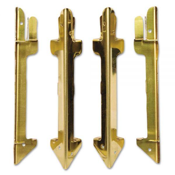 Carver Hardwood Stackable Desk Tray, Four-Posts, Brass