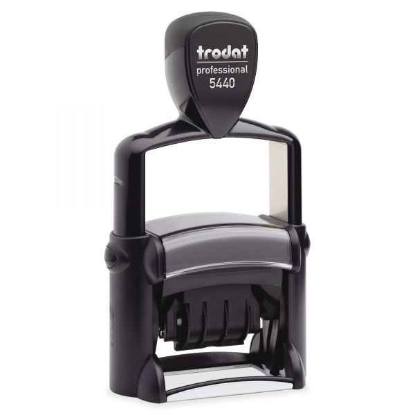 U. S. Stamp & Sign Trodat Professional 5-in-1 Message Stamp, Dater, Self-Inking, 1 5/8 x 1, BE/Red