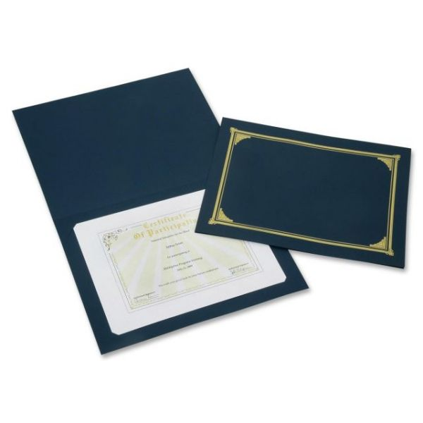 SKILCRAFT Gold Foil Cover Document Holders