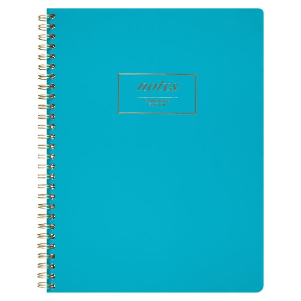 Cambridge Fashion Twinwire Business Notebook, 9 1/2 x 7 1/4, Teal, 80 Sheets