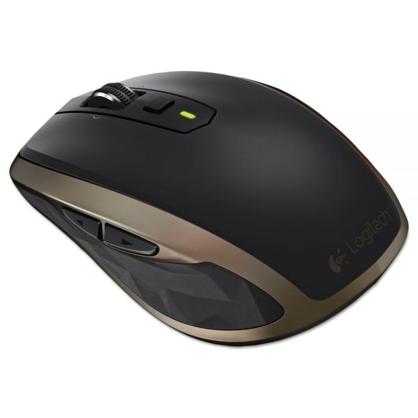 Logitech Anywhere Mouse MX, Wireless, Glossy Finish, Black
