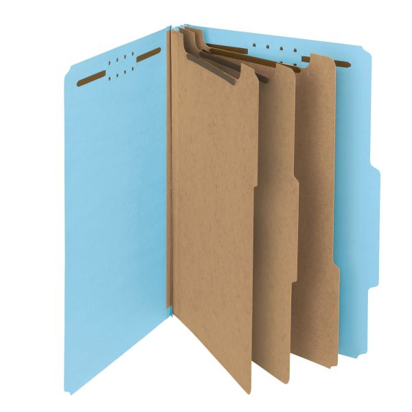 Smead 100% Recycled Pressboard Classification Folders