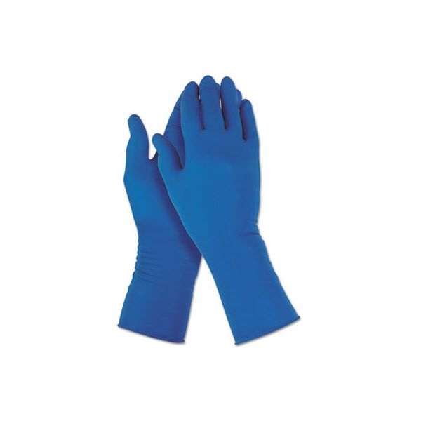 Jackson Safety* G29 Solvent Resistant Gloves, 295 mm Length, Medium/Size 8, Blue, 500/Carton
