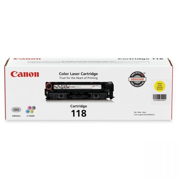 Canon 118 Yellow Toner Cartridge (CRTDG118-YW)