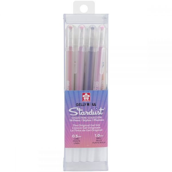 Gelly Roll Stardust Bold Point Pens 16/Pkg