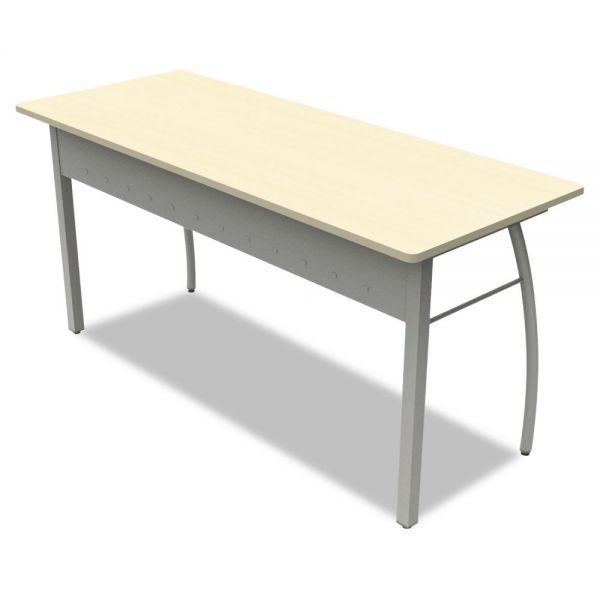 Linea Italia Trento Line Rectangular Desk, 59-1/8w x 23-5/8d x 29-1/2h, Oatmeal