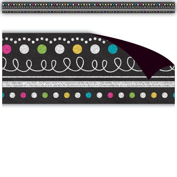 Teacher Created Resources Chalkboard Brights Magnetic Borders