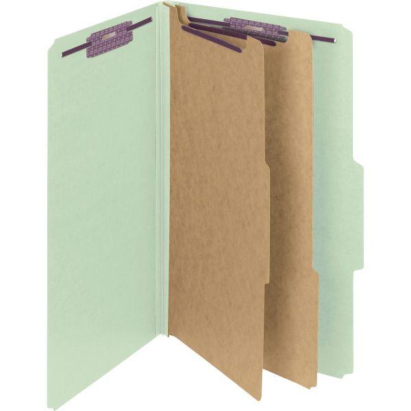 Smead SafeSHIELD 2-Divider Pressboard Classification Folders