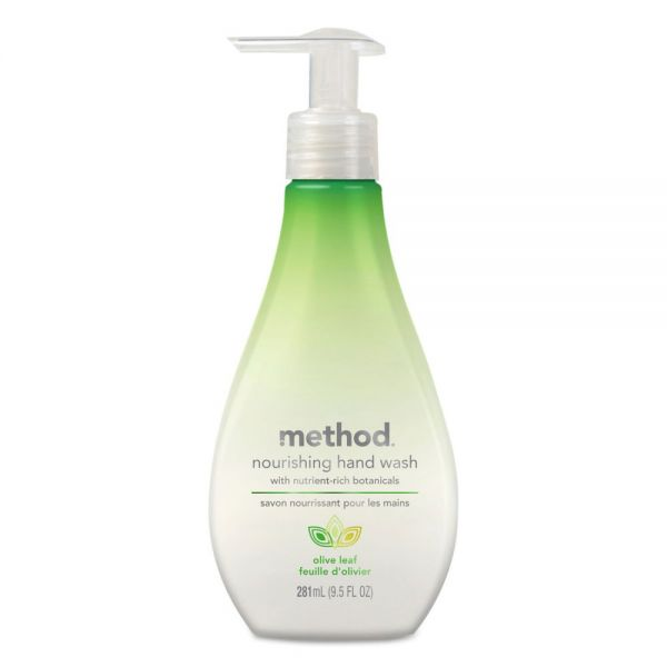 Method Nourishing Hand Wash, Olive Leaf, 9 1/2 oz Bottle, 6/Carton