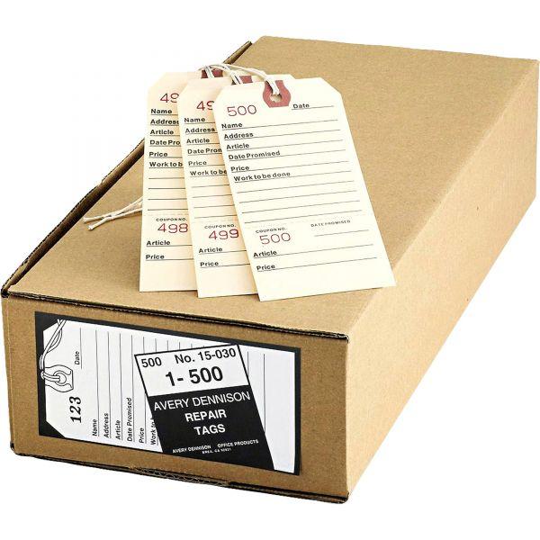 Avery Repair Tags, 5 1/4 x 2 5/8, Manila, 500/Box