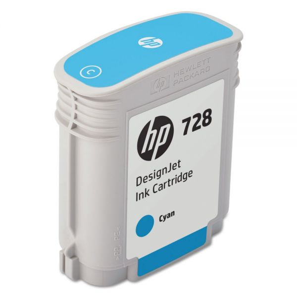 HP 728 Cyan Ink Cartridge (F9J63A)